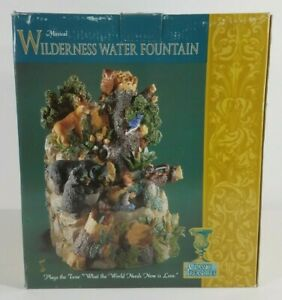 NIP Classic Treasures musical Wilderness Animals electric Water Fountain decor
