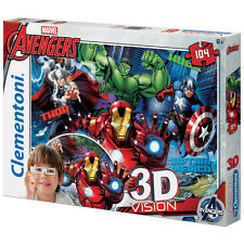 Clementoni Marvel The Avengers 3D Vision Jigsaw Puzzle (104 Piece) NEW