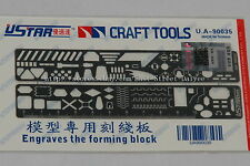 USTAR U-STAR TOOLS 90035 PE Photo etched Tool Scribing Panel Template D