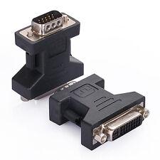 DVI-I Enchufe de VGA adaptador cambiador AV Convertidor Para PC A CRT