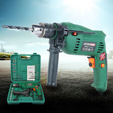 1580W 30PCS Green Heavy Duty Electric Hammer Drill Set Powerful Variable Speed