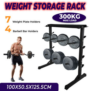 Home Gym Weight Plate Storage Barbell Bar Dumbbell Weight Storage Rack 300kg+