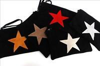 Made in Italy Tasche Handtasche echtes Leder NEU Wildleder schwarz edel Clutch