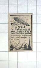1917 Zeppelin Raid On High Prices Walter Eva Cash Furniture Stores Penzance