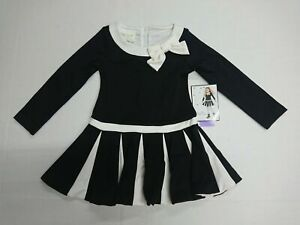Brand New Biscotti Girls Black & Ivory Dress Special Occasion Christmas (7/8)