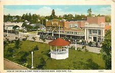 Florida, FL, Avon Park, View of Mall & 1st Trust & Savings Bank 1920's Postcard