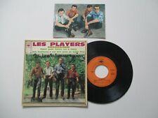 RARETE 45 T  EP SIXTIES LES PLAYERS DEDICACE + CARTE  PUBLICITAIRE  CBS