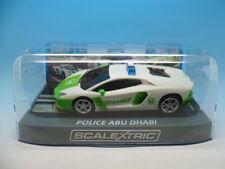 SCALEXTRIC POLICE Abu Dhabi Lamborghini Aventador, exculsive à scalextricman