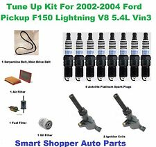 Tune Up Kit for 02-04 Ford F150 5.4L Serpentine Belt, Spark Plug, Oil Air Filter
