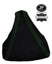 GREEN STITCH REAL SUEDE GEAR GAITER SHIFT BOOT FITS HONDA S2000 1999-2009