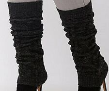 Lane Bryant LEG WARMERS BLACK Cable Winter Knit Ribbed Cuffs NWT PLUS SIZE