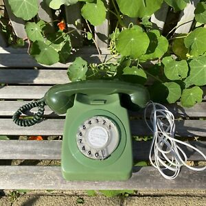 Vintage Retro BT GPO 746 GEN 79/2 Rotary Dial Telephone Two-Tone Green - Working
