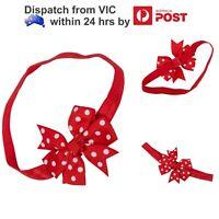 Red Polka Dot Bow Knot Baby Girls Kids Headband Elastic Stretch Head Hair Band