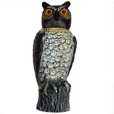 Realistic Owl Scare Bird 40cm Rotatinghead Pigeon Crow Pest Deterrent 95019001