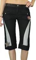 CUSTO BARCELONA Women's Jan Black Floral Detail Capris Pants 593210 $209 NWT