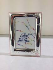 Cornice portafoto ITS in legno rossa e argento mod. 18226 - regalo per nascita