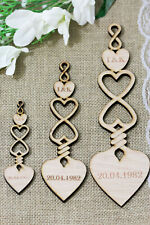 PERSONALISED WOODEN LOVE SPOONS INFINITY SPOON WEDDING FAVOUR TABLE DECORATION