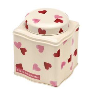 Emma Bridgewater Pink Hearts Dome Lid Curved Tea Caddy /Storage Tin