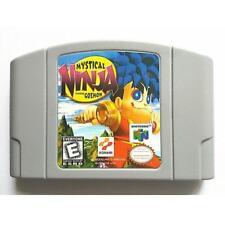 For N64 Mystical Ninja Starring Goemon Cartridge game Card English US version