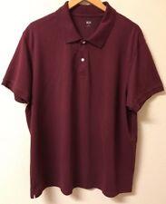 Uniqlo Men's Size 3XL Burgundy Short Sleeve Polo Shirt Cotton Blend
