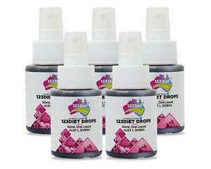 Pack of Five 123DIET® Drops