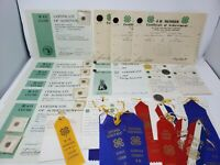 Vintage Lot of 4-H Club Collectible Pins Certificates Ribbons 1960's