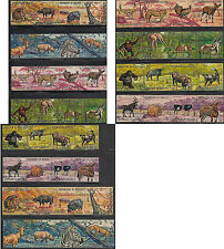 Wild Animals Burundi #355-60,C146-51 Cplt 48 Value Topical Set Scott Val $15.70