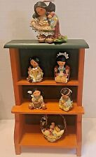 Friends Of The Feather Enesco Lot of 6 Small Figurines Plus Shadow Box Basket
