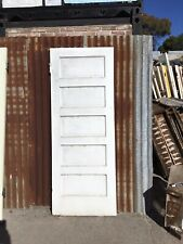 Solid Timber with 5 Horizontal panels Door 755w X 1970h X 35d. Refer to Photos