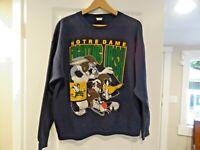 90s Notre Dame Fighting Irish Warner Bros Looney Tunes Crew Neck Sweatshirt SZ L