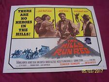 THE HILLS RUN RED  1/2 Sheet  Movie POSTER Thomas Hunter Henry Silva Dan-Western