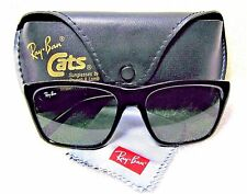 "RAY-BAN VINTAGE *NOS B&L ""CATS"" 3000 FRANCE L1605 BLACK WAYFARER *NEW SUNGLASSES"