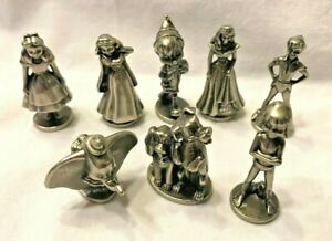Walt Disney Monopoly Replacement Pewter Game Token Pieces 2001 Set of 8