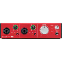 FOCUSRITE CLARETT 2PRE USB - AUDIO RECORDING INTERFACE / MAC, PC, Authorized DLR