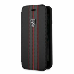 Ferrari® PU Leather Wallet Case for iPhone SE (2020),iPhone 8 and iPhone 7 Black