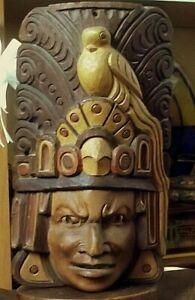 MASCHERA SACRA IN LEGNO RITUALE MAYA. NO INCAS NO AZTECA.