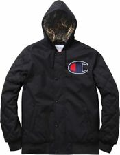 Supreme X Champion Paisley Quilted Hoodie Jacket Extra Large XL Black NEW