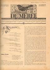 """JAARGANG DE MEREL 1941  (BIJBLAD """"HET KIND"""") - Mien Labberton (redactie)"""