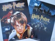 "HARRY POTTER ""SORCERER'S STONE"" 2-SIDED MOVIE POSTER: Harry & Castle"