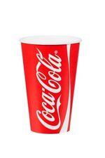 100 X Coca Cola 16oz Taza y Tapa de ranura de paja tazas Desechables Papel Coca Cola