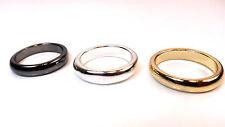 Homme's lot de 3 anneaux-argent/or/argent-cool/hip/slick/classe/chic/tendance (A16)