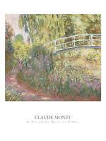 FINE ART PRINT - Le pont japonais by Claude Monet Bridge Landscape Poster 32x24