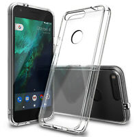 For Google Pixel   Ringke [FUSION] Clear Back Shockproof Protective Cover Case