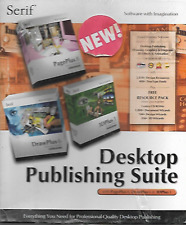 SERIF DESKTOP PUBLISHING SUITE PAGEPLUS 8/DRAWPLUS 6/3D PLUS 3 (2002) NEW/SEALED