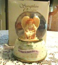 "Roman Seraphim Glitter Globe ""An Angel To Watch Over Me"" Plays Brahm'S Lullaby"