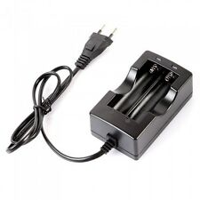 2 LED Rechargeable AC Travel 18650 Lithium Battery Wall Charger EU Plug 4.2V