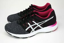 ASICS Gel-Exalt 4 Women's Sz 8.5 Grey/Black/Pink Running Shoes Sneakers