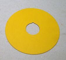 Moeller Eaton Einlegeschild A22-1AK (gelb Not-Aus) NEU