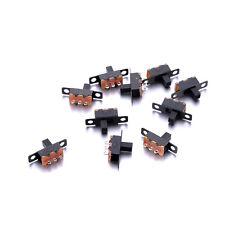 2 Position On/Off SPDT 1P2T 3 Pin PCB Panel Mini Vertical Slide DC Switch 10pcs
