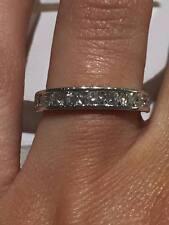 PLATINUM HALF ETERNITY RING 0.80CT FVS DIAMONDS CHANEL SET RING GOY404